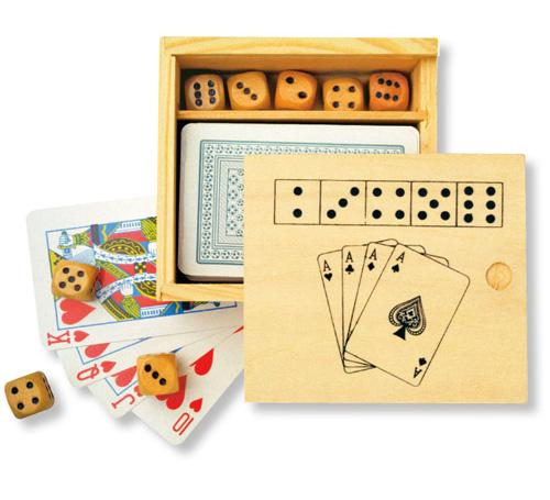 Spielkarten würfelbox bedrucken werbeartikel mit logo