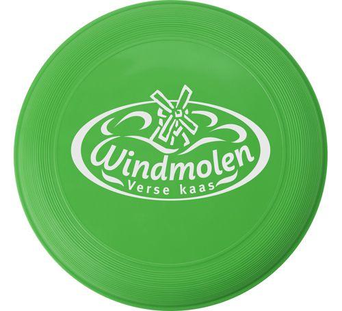 Frisbee freestyle gelb bedrucken werbeartikel mit logo