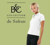 B&C Damen Polo Safran Pure White
