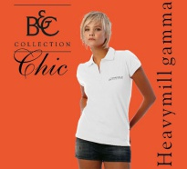 B&C Polo Heavymill Damen White