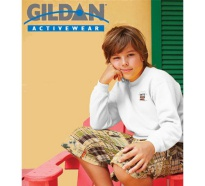 Gildan Heavyweight Blend Youth Crewneck White