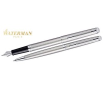 Waterman Hemisphere Essential Steel CT Schreibset