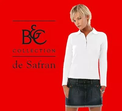 B&C Damen Polo Safran Pure LSL White