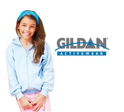Gildan Full Zip Youth Hooded Sweatshirt